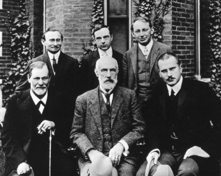 Freud, Stanley Hall, Jung; A. Brill, Ernest Jones, Sandor Ferenczi